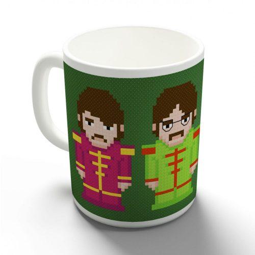 Beatles pixel bögre