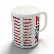 Scuderia Ferrari - Fejlődéstörténet bögre