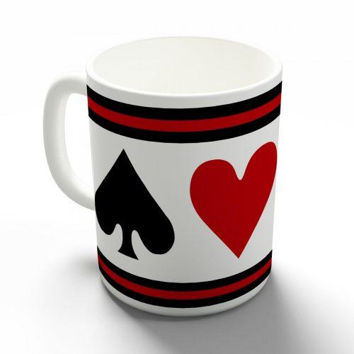 Póker szimbólumok bögre