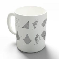 Origami daru bögre