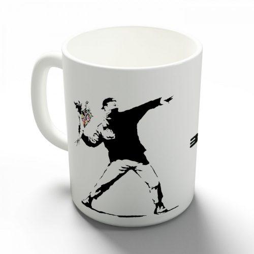 Banksy Riot bögre
