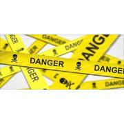 Veszélyes terület bögre