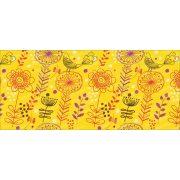 Sárga virágos bögre