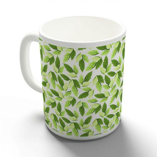 Zöld leveles bögre