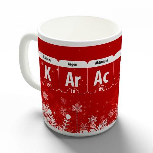 Karácsonyi kémia bögre