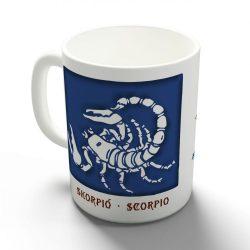 Asztrobögre férfiaknak - Skorpió egyedi bögre