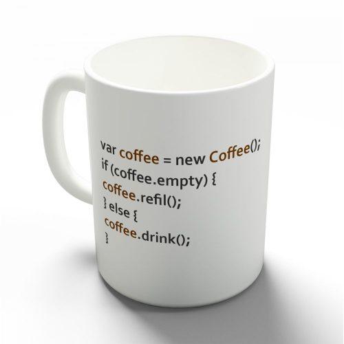 Kávé programozva bögre