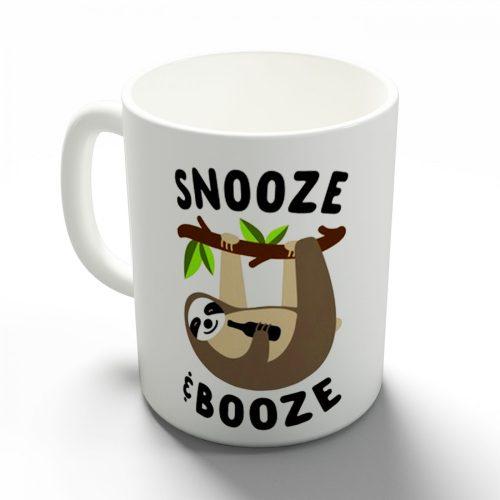 Snooze and Booze lajhár bögre