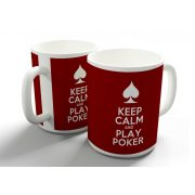 Keep Calm and Play Poker bögre