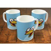 Két kék dühös madár bögre