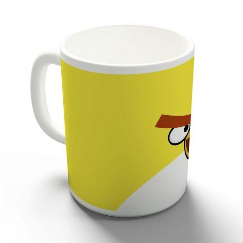 Egy sárga dühös madár bögre